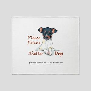 SHELTER DOGS Throw Blanket