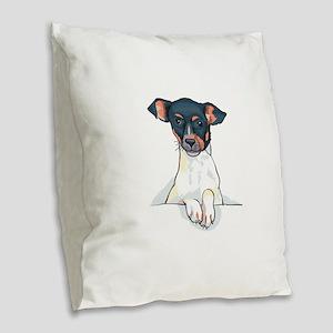 JACK RUSSELL Burlap Throw Pillow