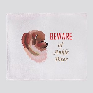 ANKLE BITER Throw Blanket