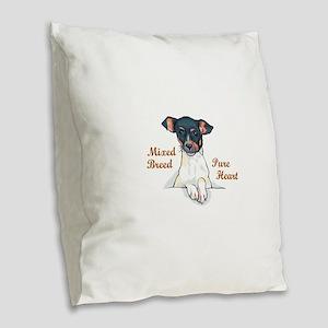 MIXED BREED Burlap Throw Pillow