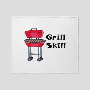 Grill Skill Throw Blanket