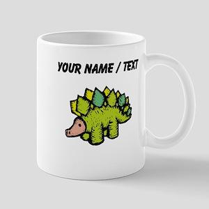 Custom Green Stegosaurus Mugs