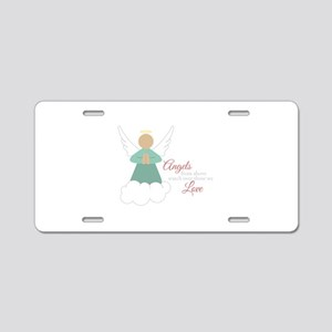 Angels From Above Aluminum License Plate