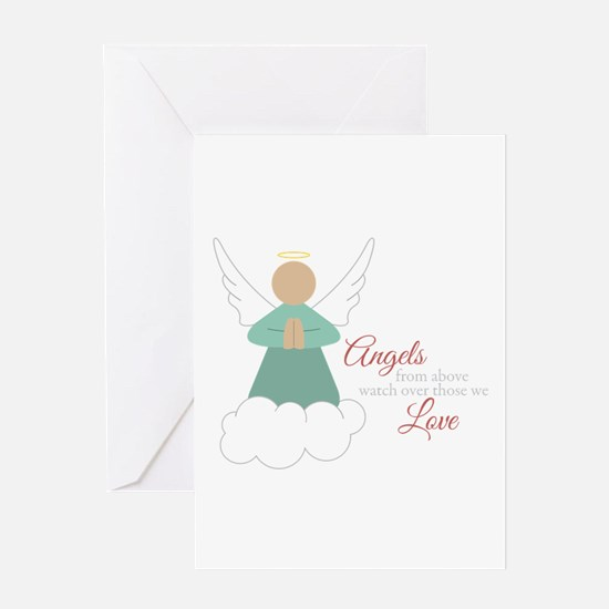 Angels From Above Greeting Cards