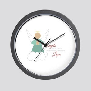 Angels From Above Wall Clock