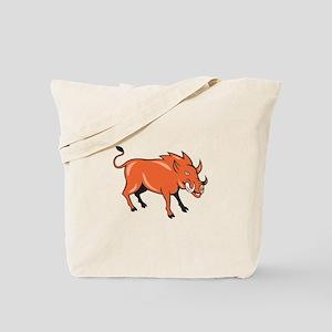 Razorback Head Charge Cartoon Tote Bag