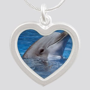 Dolphin Silver Heart Necklace