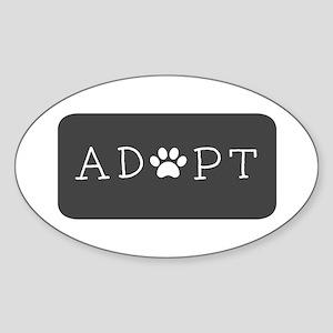 Adopt (Grey Logo) Sticker