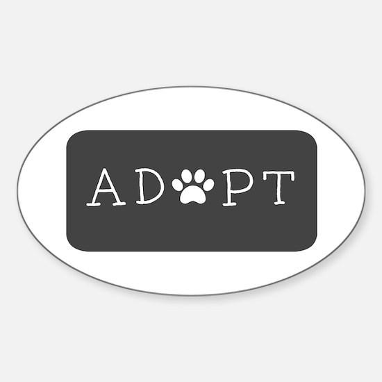 Adopt (Grey Logo) Decal