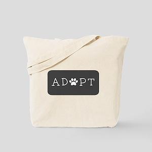 Adopt (Grey Logo) Tote Bag