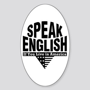 Speak English Oval Sticker