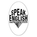 Speak English Oval Sticker