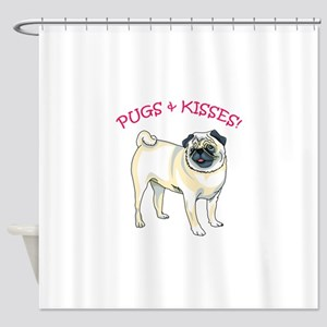 PUGS & KISSES! Shower Curtain