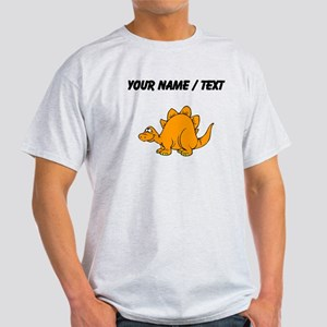 Custom Orange Stegosaurus T-Shirt