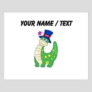Custom Dinosaur Wearing Hat Posters