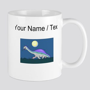 Custom Dinosaur At Night Mugs