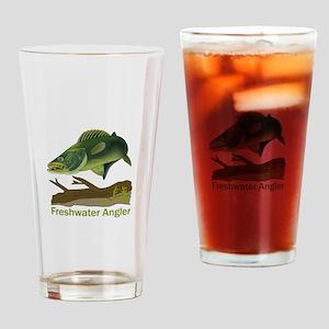 FRESHWATER ANGLER Drinking Glass