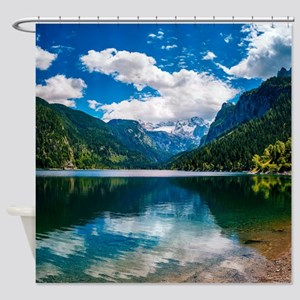 Mountain Valley Lake Shower Curtain