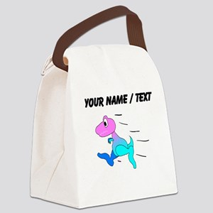 Custom Dinosaur Running Canvas Lunch Bag