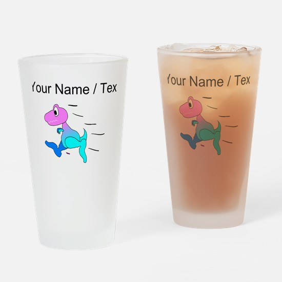 Custom Dinosaur Running Drinking Glass