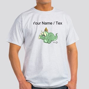 Custom Dinosaur And Girl T-Shirt