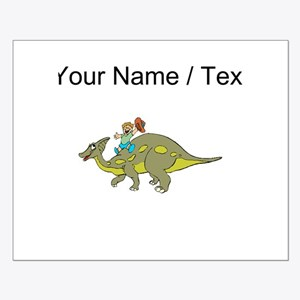 Custom Dinosaur And Boy Posters