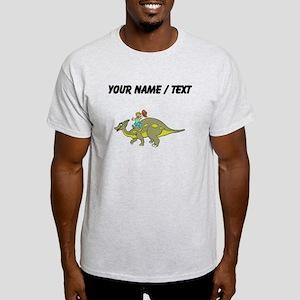 Custom Dinosaur And Boy T-Shirt