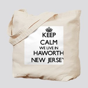 Keep calm we live in Haworth New Jersey Tote Bag