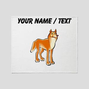Custom Dingo Throw Blanket