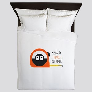 Measure Twice Queen Duvet