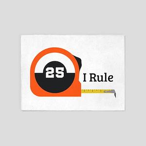 I Rule Tape 5'x7'Area Rug