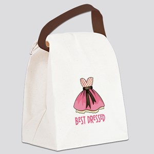 BEST DRESSED Canvas Lunch Bag