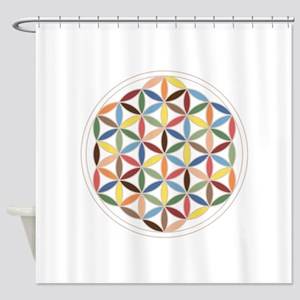 Flower Of Life Retro Cols Shower Curtain