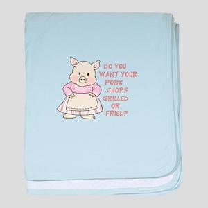 PORK CHOPS baby blanket