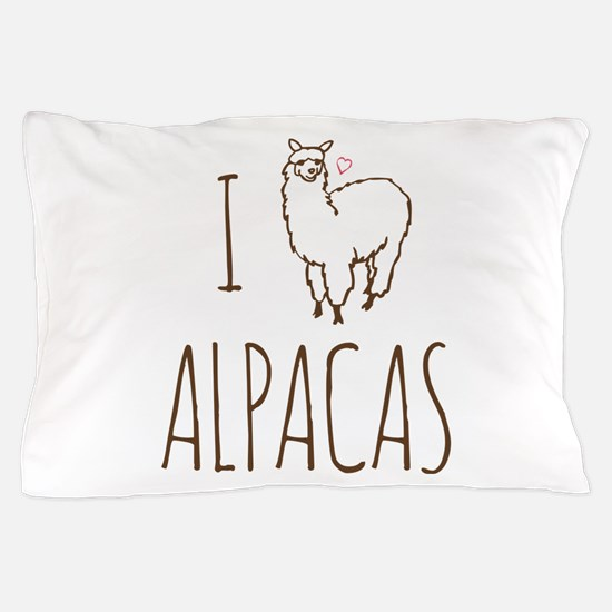 I Love Alpacas Pillow Case