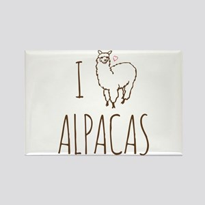 I Love Alpacas Rectangle Magnet