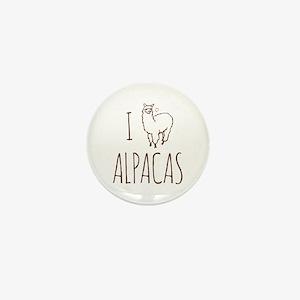 I Love Alpacas Mini Button