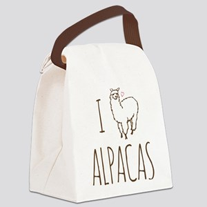 I Love Alpacas Canvas Lunch Bag
