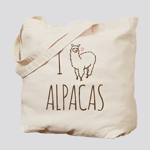 I Love Alpacas Tote Bag