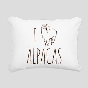 I Love Alpacas Rectangular Canvas Pillow