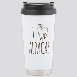I Love Alpacas Stainless Steel Travel Mug