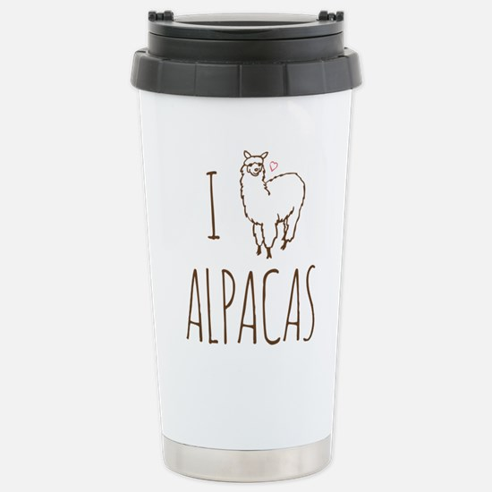 I Love Alpacas Stainless Steel Travel Mug