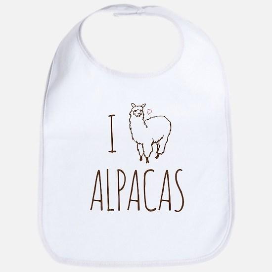 I Love Alpacas Bib