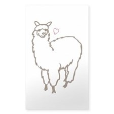 Cute Alpaca Sticker (Rectangle)