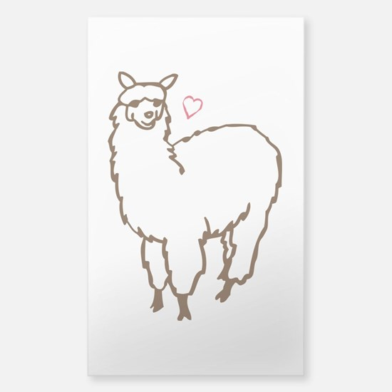 Cute Alpaca Sticker (Rectangle)