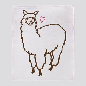Cute Alpaca Throw Blanket