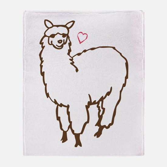 Cute Alpaca Throw Blanket