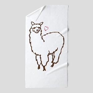 Cute Alpaca Beach Towel