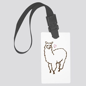 Cute Alpaca Large Luggage Tag