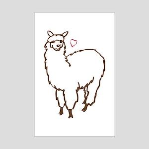 Cute Alpaca Mini Poster Print